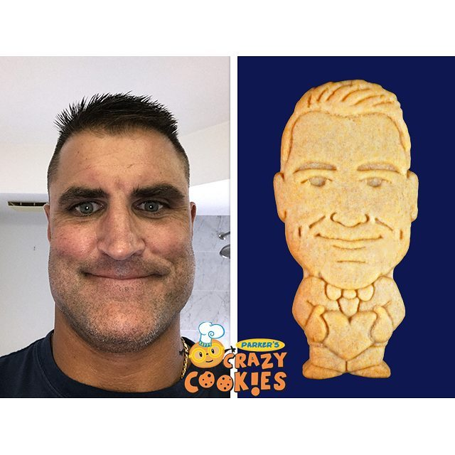 Send your special half and family custom cookies of yourself!hellip