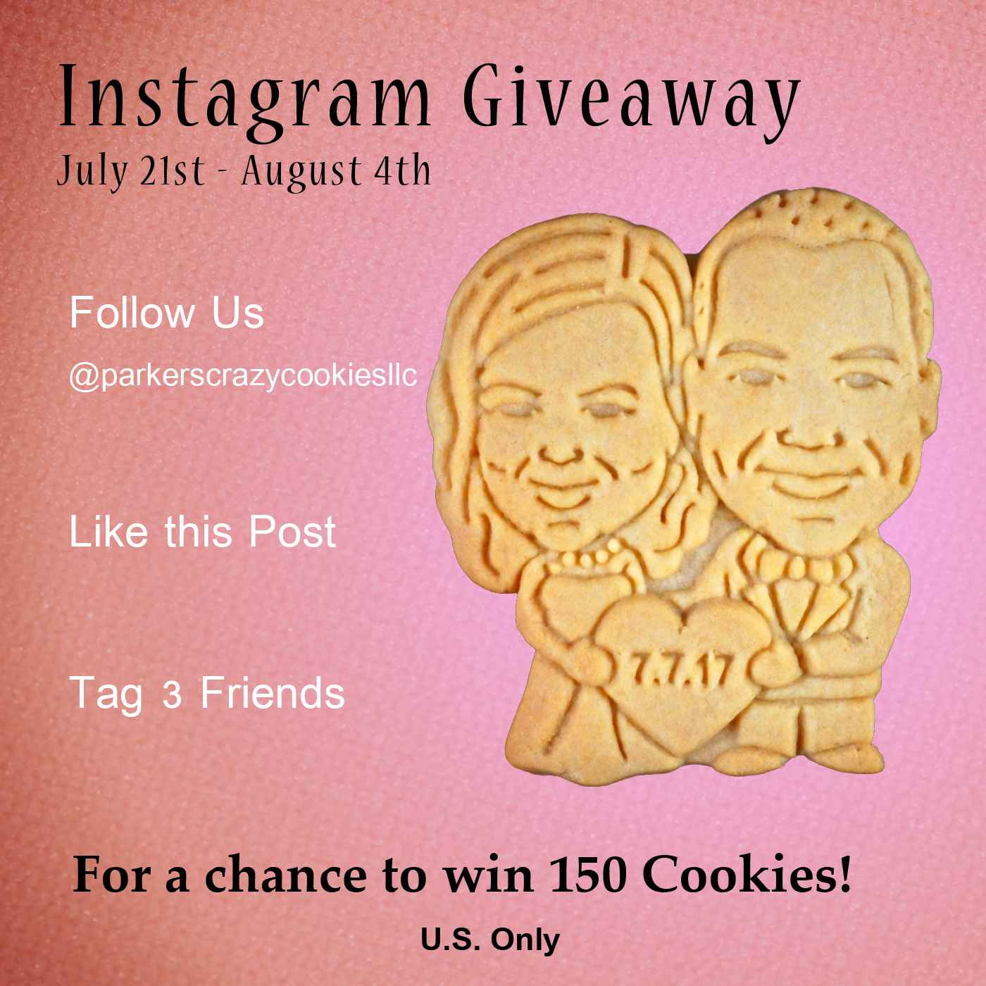 Instagram Giveaway 2017 - Couples Cookies